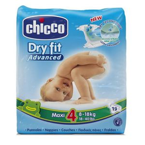 COUCHE CHICCO Dry Fit Advanced Couches - Taille 4 Maxi x