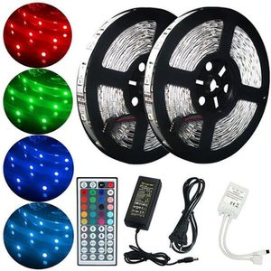BANDE - RUBAN LED E-thinker Ruban 300 LED 10M 5050 RGB Etanche avec