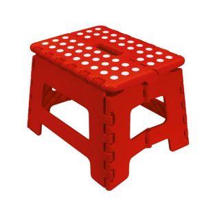 ECHELLE FRANDIS Marche-pied pliable 29x22x22cm rouge