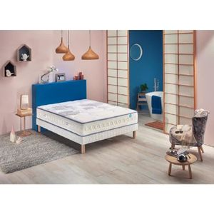 ENSEMBLE LITERIE MERINOS Ensemble matelas + sommier - CHILLY WAVE