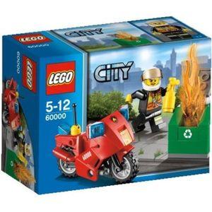 ASSEMBLAGE CONSTRUCTION LEGO City 60000 La moto des pompiers