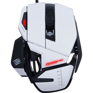 SOURIS MADCATZ Souris gamer RAT 4+ BLANCHE
