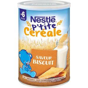 CÉRÉALES BÉBÉ NESTLÉ P'tite Céréale Biscuité - 400 g - Dès 6 moi