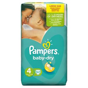 COUCHE PAMPERS Baby Dry  Taille 4 - 7 à 18kg - 62 Couches