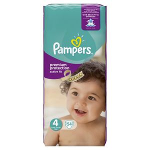 COUCHE PAMPERS Active Fit Taille 4, 8 à 16 kg 54 couches