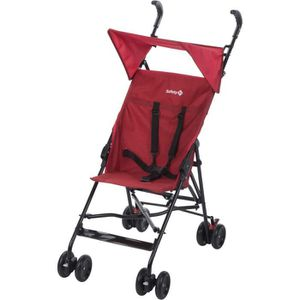 POUSSETTE  SAFETY 1ST Canne fixe Peps + Canopy Ribbon Red Chi