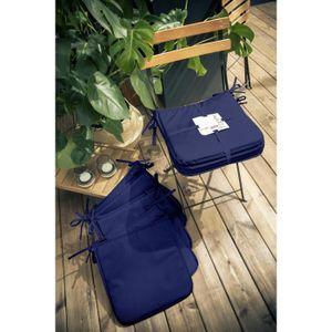 COUSSIN DE CHAISE  TODAY Lot de 6 Galettes de chaise 38x38x2cm - 100%