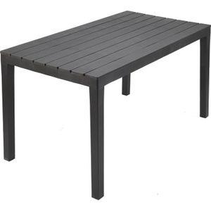 TABLE DE JARDIN  Table de jardin 4 à 6 personnes 140x80cm - Polypro
