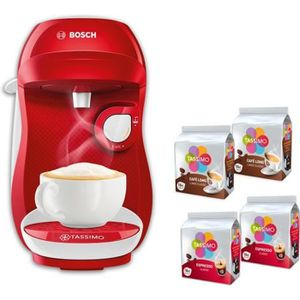 MACHINE À CAFÉ BOSCH Tassimo HAPPY TAS1006C + 4 packs de T-Discs