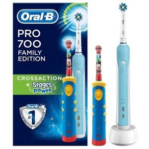 BROSSE A DENTS ÉLEC ORAL B Packs Brosse à dents PRO700 + Kids