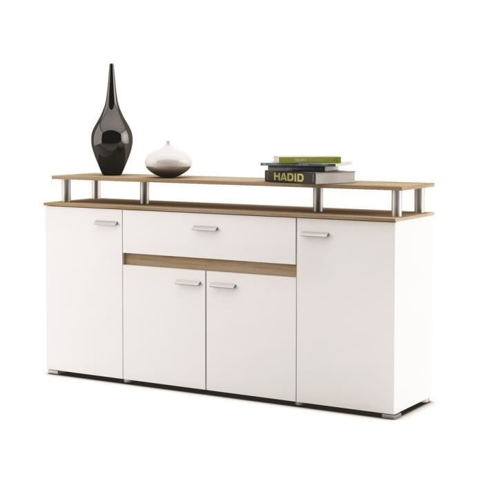 evolution buffet 171cm coloris blanc et ch ne achat. Black Bedroom Furniture Sets. Home Design Ideas