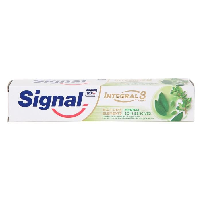 Signal Dentifrice Antibactérien Nature Elements Herbal Soin Gencives 75ml