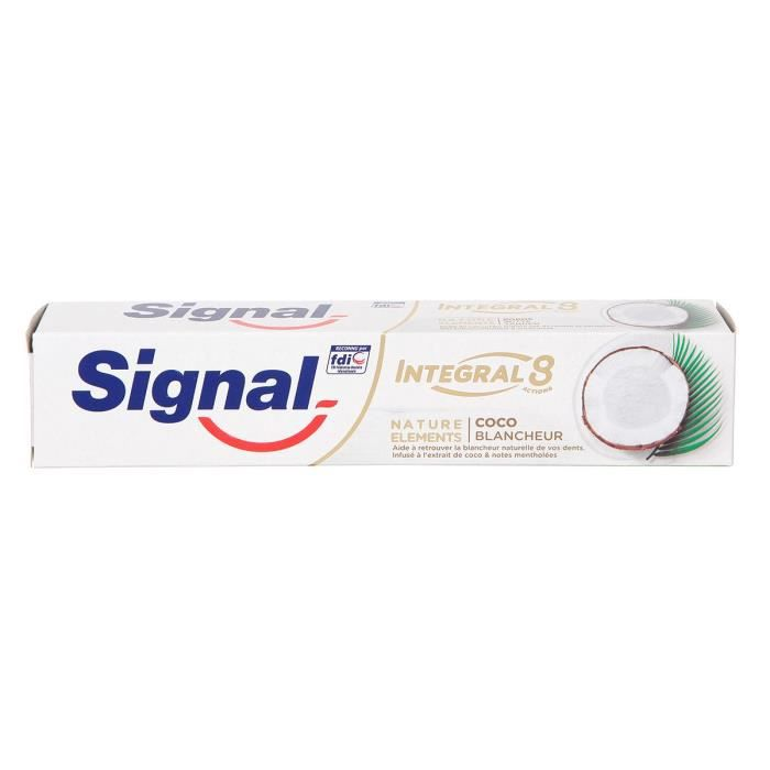 75ml - SIGNAL Dentifrice Natural Elements Coco blancheur