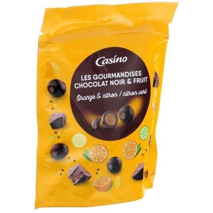 LES GOURMANDISES Chocolat noir, goûts orange, citron et citron vert - 125 g