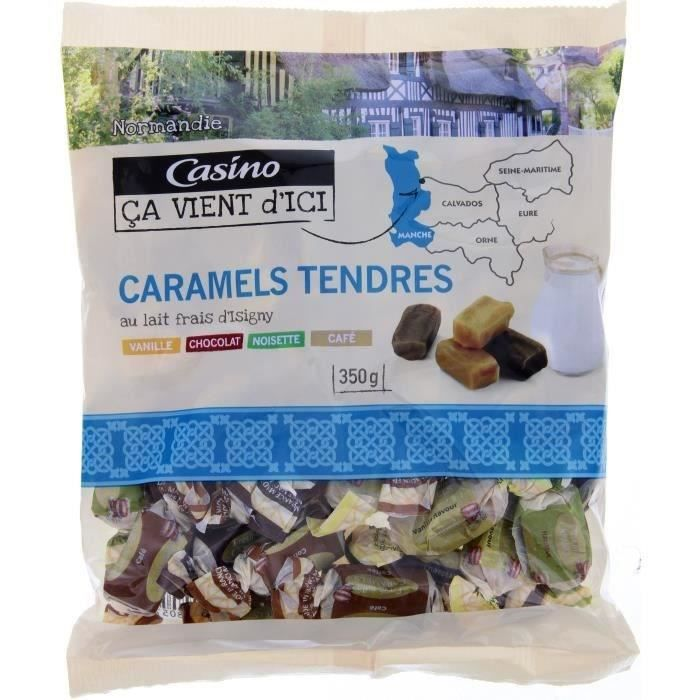 CASINO Caramels tendres au lait frais d'Isigny - 350 g