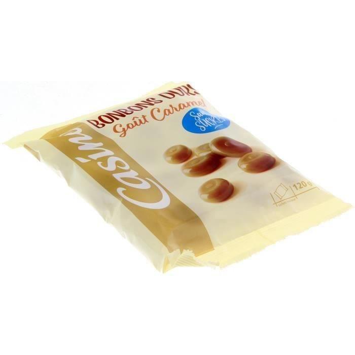 CASINO Caramels durs sans sucres - 120 g