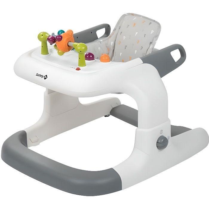 SAFETY 1ST Trotteur Kamino 3 en 1 - À partir de 6 mois - Bébé mixte - Gris