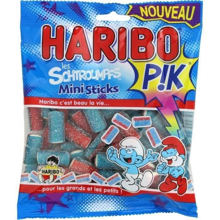 HARIBO Bonbons Mini sticks Les Schtroumpfs - 200 g