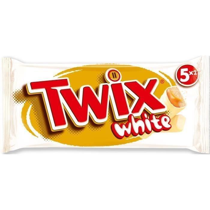 MARS Barres Twix white nappées caramel et enrobées de chocolat au blanc - 5x 52 g