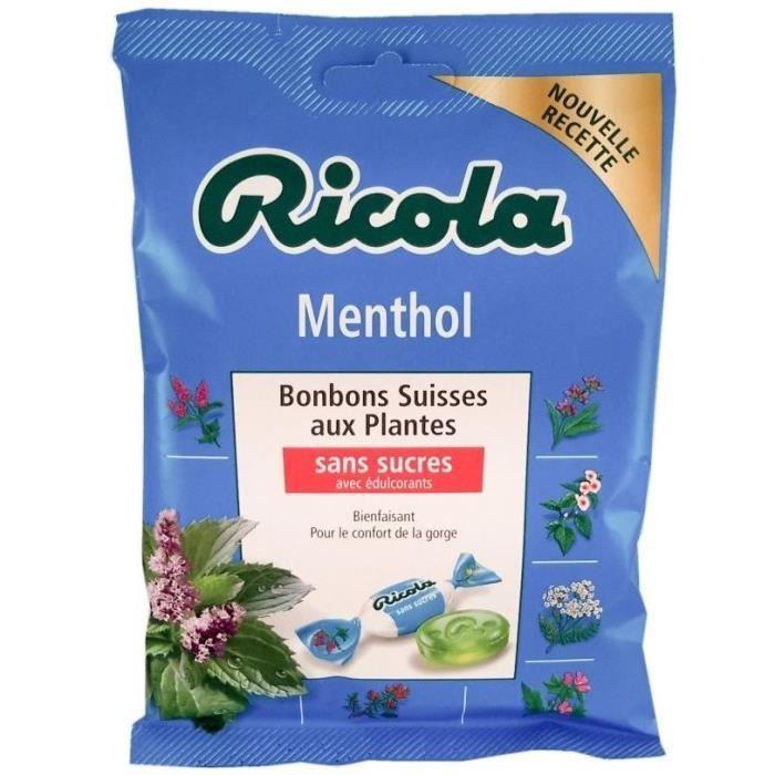 RICOLA Bonbons Suisses aux plantes (Menthol), sans sucres - 70 g