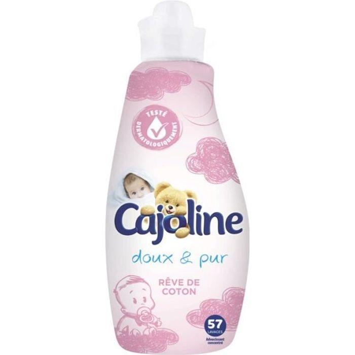 CAJOLINE Lot de 57 Assouplissants Rêve de Coton - 1,5 L