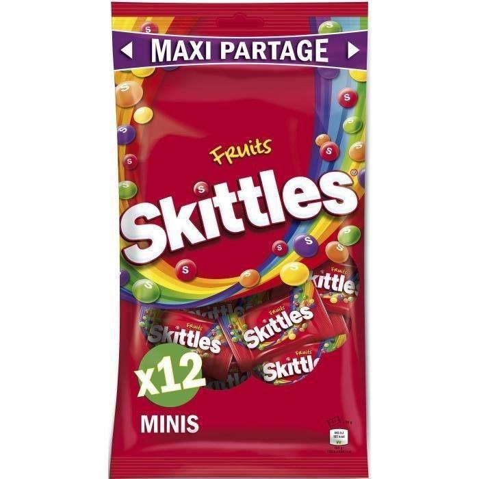 SKITTLES Bonbons tendres dragéifiés Maxi Partage, goûts fruits - 26 g