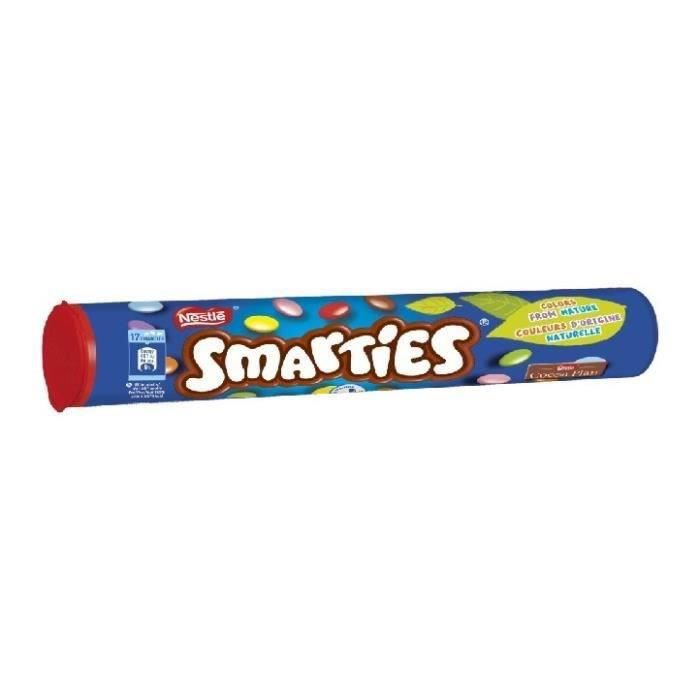 NESTLE Bonbons Smarties en tube - 130 g