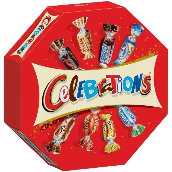 MARS Bonbons assortis Célébrations en boîte octogonale - 385 g