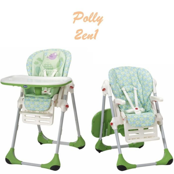 Chicco chaise haute polly 2en1 tweet vert et blanc achat for Chaise haute 3 en 1