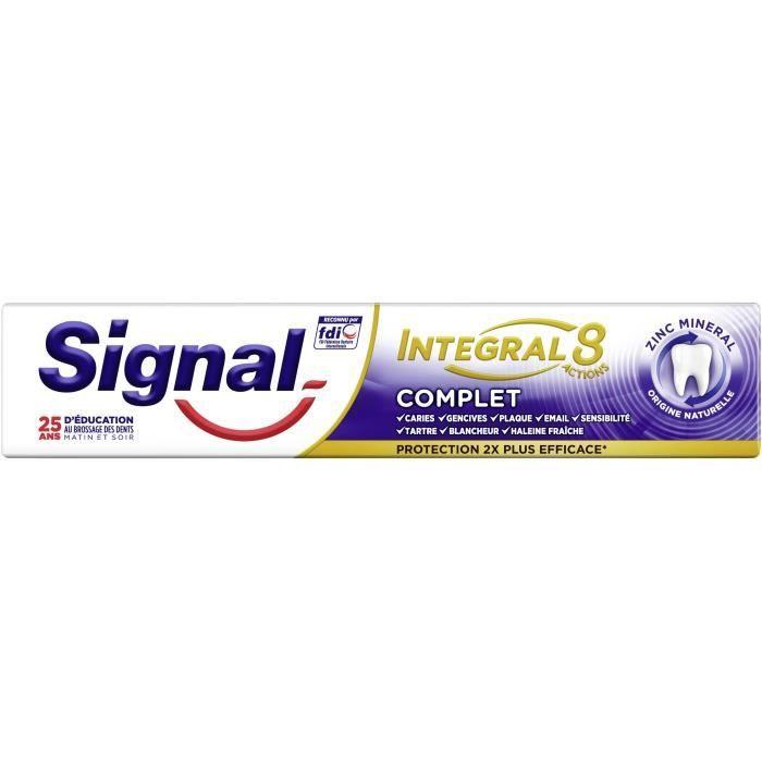 Signal Dentifrice Antibactérien Integral 8 75ml