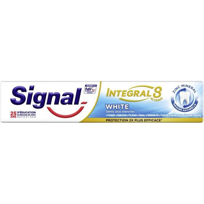 Signal Dentifrice Antibactérien Blancheur White 75ml