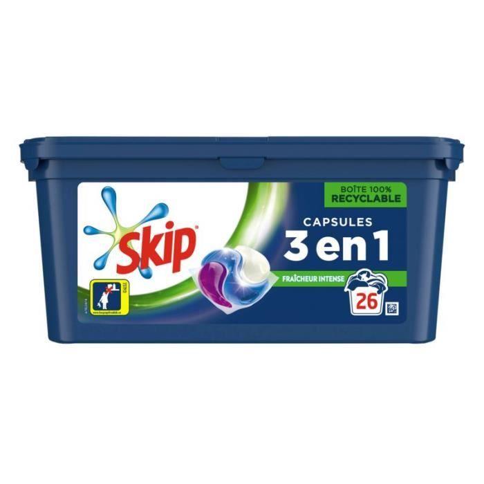 SKIP Lessive Ultimate Trio Fraicheur Intense - 26 lavages