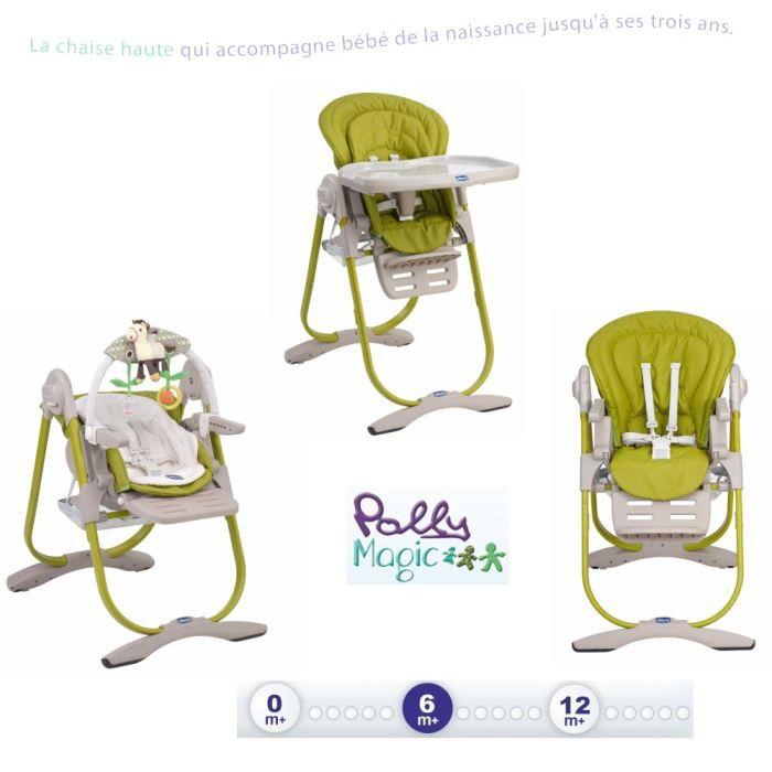Chicco Chaise Haute 3en1 Polly Magic Lime Achat Vente Chaise Haute 8003670878674 Cdiscount