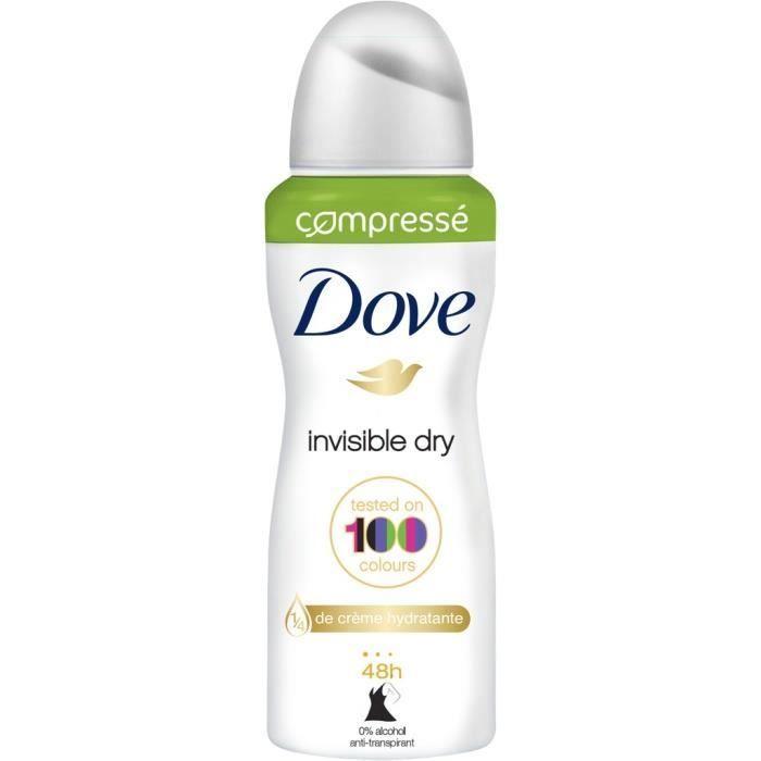 DOVE Déodorant Atomiseur Compressé Invisible Dry - 100 ml