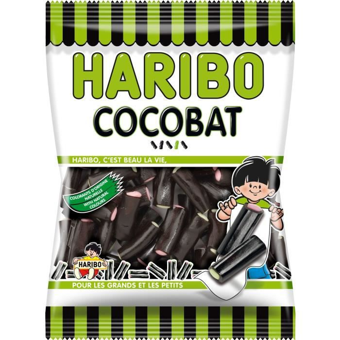 HARIBO Confiserie Cocobat au goût de réglisse - 300 g