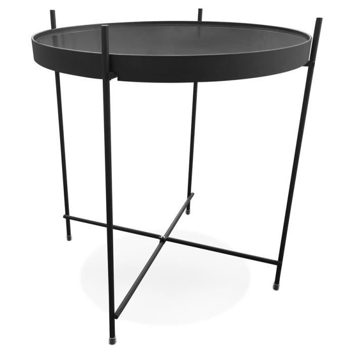 Table d'appoint pliable 'KOLOS' noire