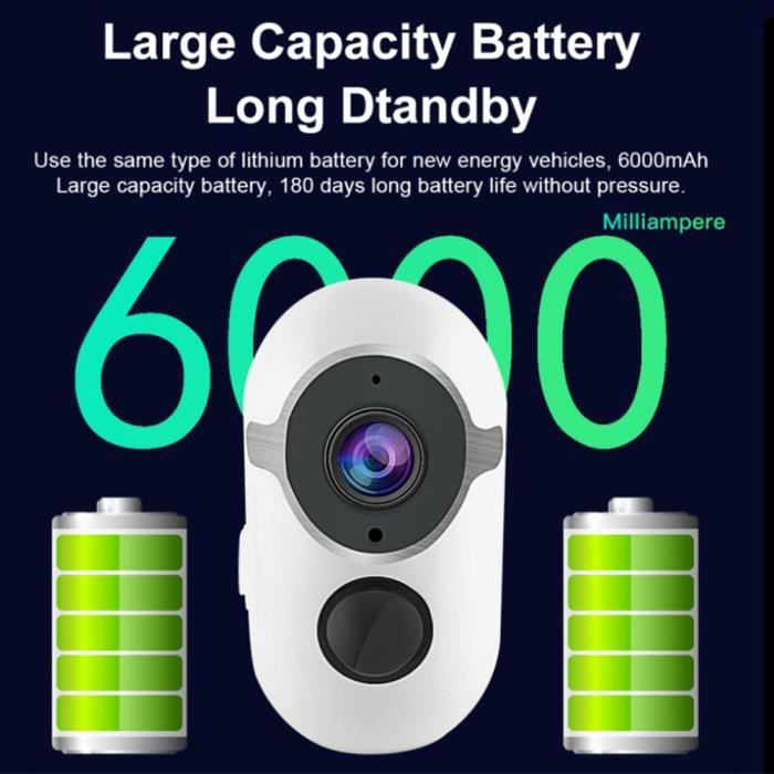 Kangfun 1080P Caméra de Surveillance CAMÉRA IP WiFi avec Panneau Solaire , Vision nocturne, étanche, FONCTION D'ALARME