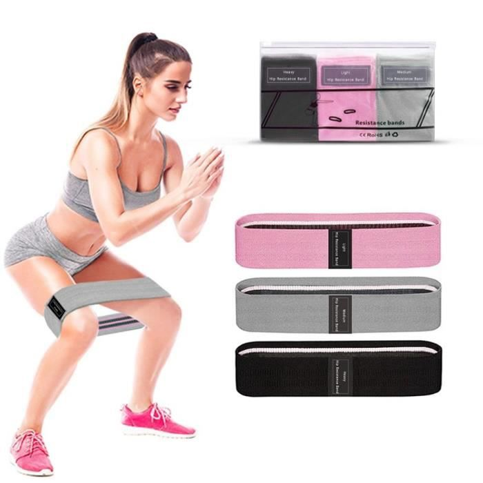 Bande de résistance 3 pièces de remise en forme bande élastique extenseur élastique bande de fitness exercice bande de fitness exerc
