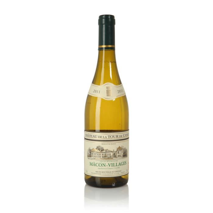 LA TOUR DE L'ANGE 2016 Mâcon-Villages Vin de Bourgogne - Blanc - 75 cl - AOC