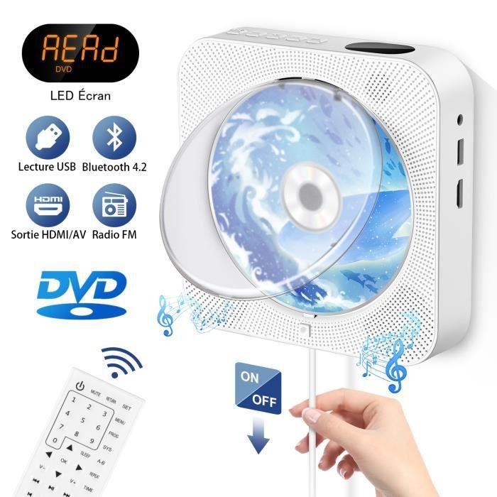 Lecteur DVD Lecteur CD Vidéo Lecteur CD Haut-parleur Bluetooth Radio Cadeau domestique pour enfant et femme enceinte