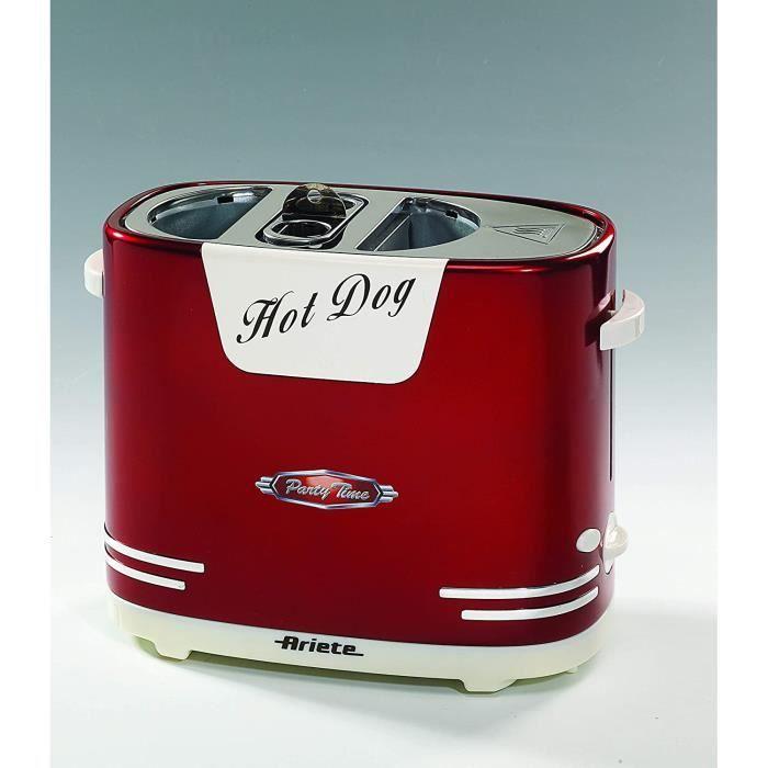 HOT DOG Ariete 186 Appareil à Hotdog Rouge3
