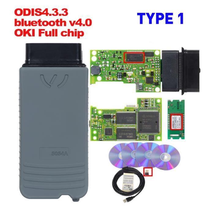 ODIS V5.1.6 puce Full OKI V5.0.6 Outil de Diagnostic automatique OBD2 5054A Bluetooth V4.0 - Type 5054 ODIS OKI Carton - V5.0.6