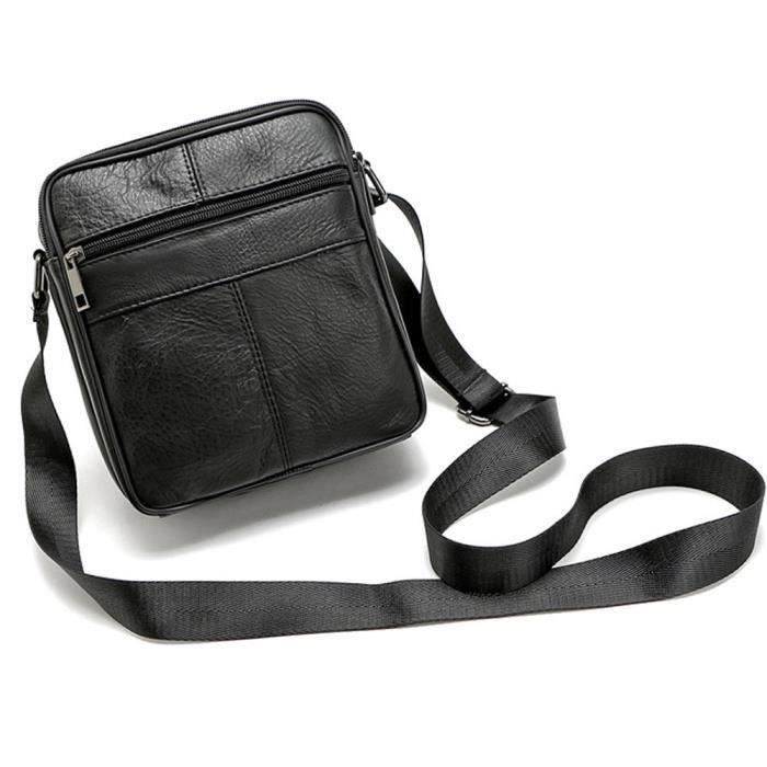 SACOCHE Hommes d 'affaires Messenger Bag Vintage Sac bandoulière grande capacité Sac à main BK #Wa4760