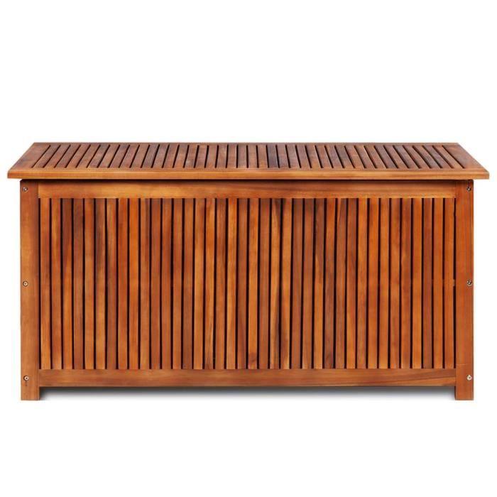 PRO© Malle de rangement - Pouf Coffre Tabouret de Rangement Coffre de jardin Classique 117x50x58 cm Bois d'acacia solide 39037 :-)