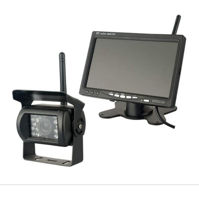 Kit de caméra de recul sans fil, 7-LCD moniteur de caméra de recul, 18 LED vision nocturne inversée arrière caméra de recul de A334