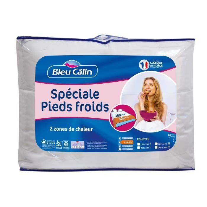 BLEU CALIN Couette spéciale pieds froids - 200 x 200 cm - Blanc