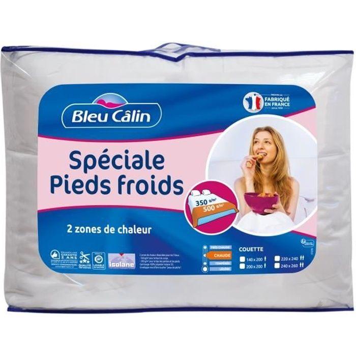 BLEU CALIN Couette spéciale pieds froids - 220 x 240 cm - Blanc
