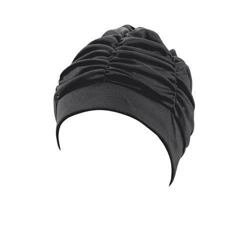 bonnet de bain dames tissu noir