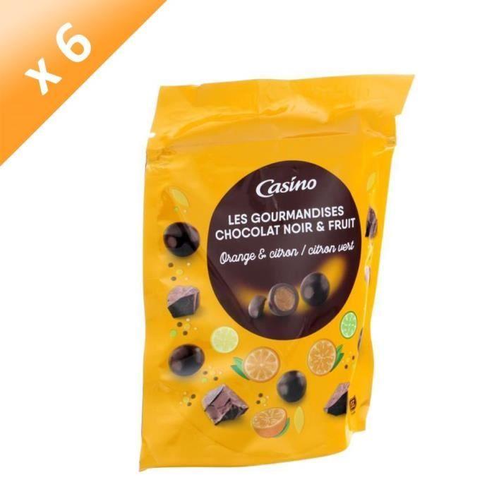 [LOT DE 6] LES GOURMANDISES Chocolat noir, goûts orange, citron et citron vert - 125 g