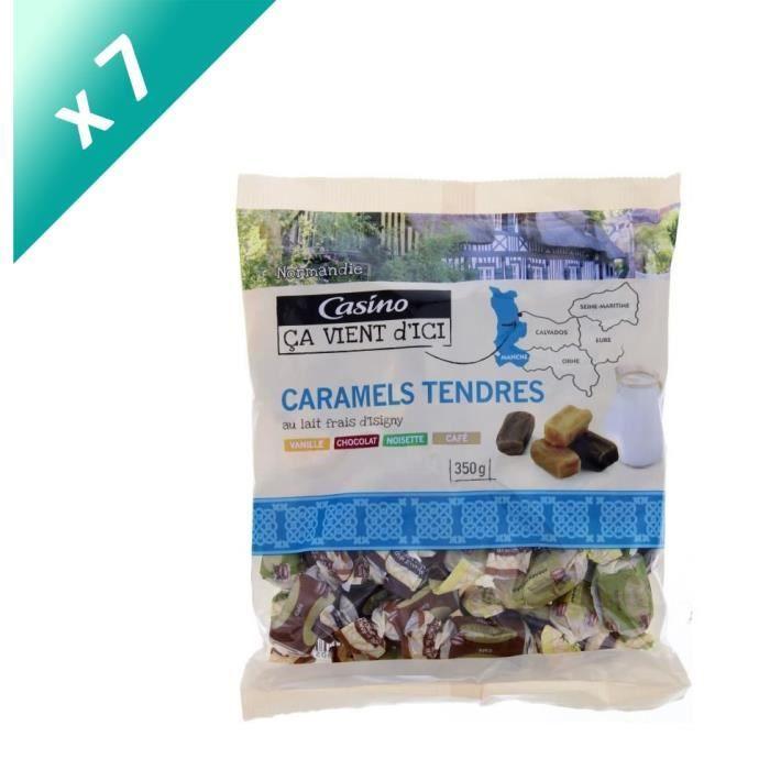[LOT DE 7] CASINO Caramels tendres au lait frais d'Isigny - 350 g